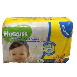 Pannolini Huggies Unistar Taglia N. 5 Peso 11/19 kg. (pz.16)