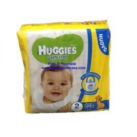 Pannolini Huggies Unistar Taglia N. 2 Peso 3/6 kg. (pz.22)