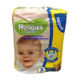 Pannolini Huggies Unistar Taglia N. 3 Peso 4/8 kg. (pz.20)