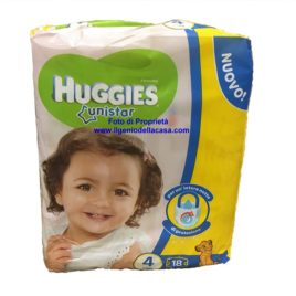 Pannolini Huggies Unistar Taglia N. 4 Peso 7/14 kg. (pz.18)