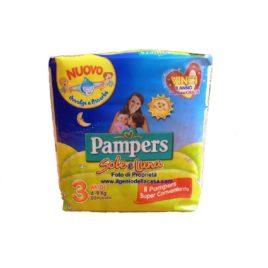 Pannolini Pampers Sole e Luna Taglia  N. 3 Midi Peso 4/9 kg. (pz.20)