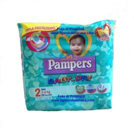 Pannolini Pampers Baby-Dry Taglia N. 2 Mini Peso 3/6 kg. (pz.24)