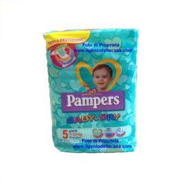 Pannolini Pampers Baby-Dry Taglia N. 5 Junior Peso 11/25 kg. (pz.17)