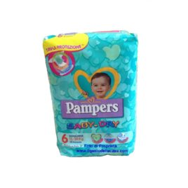 Pannolini Pampers Baby-Dry Taglia N. 6 Extra large Peso 15/30 kg. (pz.15)