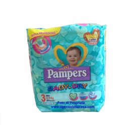 Pannolini Pampers Baby-Dry Taglia N. 3 Midi Peso 4/9 kg. (pz.20)
