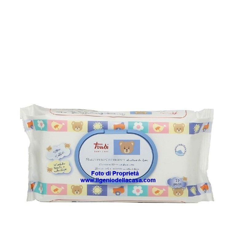 Salviettine TRUDI Baby Care detergenti al nettare dei fiori (pz 72)