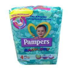 Pannolini Pampers Baby-Dry Taglia N. 4 Maxi Peso 7/18 Kg. (pz.19)