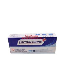 Farmacotone Siringhe sterili da 5ml. con ago indolore (pz.10)