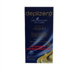 Strisce Depilatorie viso e bikini  Depilzero all'olio di argan (pz.20)