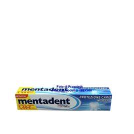 Dentifricio Mentadent Protezione carie sbiancante contenuto 75ml